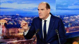 Jean Castex au JT de TF1 jeudi 21 octobre. (ALEXANDRE MARCHI / MAXPPP)