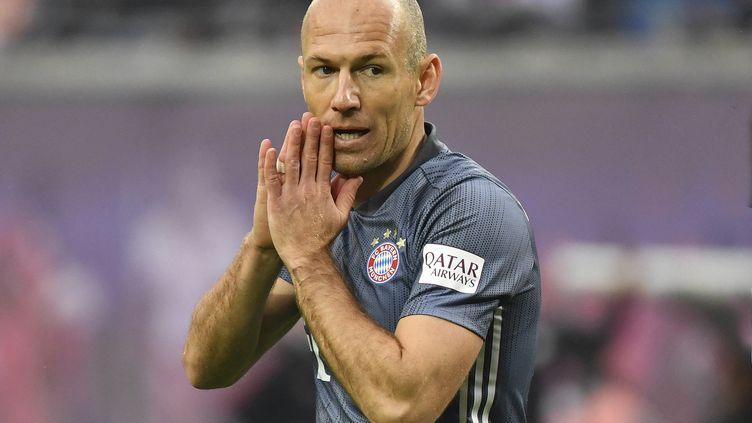 Le Néerlandais Arjen Robben, sous les couleurs du Bayern Munich dont il a fait les beaux jours, le 11 mai 2019. (FRANK HOERMANN / SVEN SIMON / AFP)