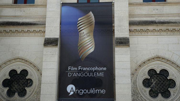 Une affiche du Festival du flm francophone d'Angoulême, ici le 24 août 2019. (BERTRAND RINDOFF PETROFF / FRENCH SELECT)