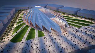 Pavillon de Dubaï pour l'exposition universelle de 2020, repoussée en raison de la pandémie à octobre 2021. Un architecture signée Santiago Calastrava. Simulation informatique, le 1er mai 2016. (HO / WAM)