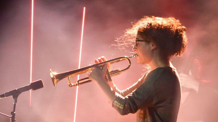 La trompettiste Airelle Besson aux Victoires du Jazz en 2016  (Lionel Urman / SIPA)