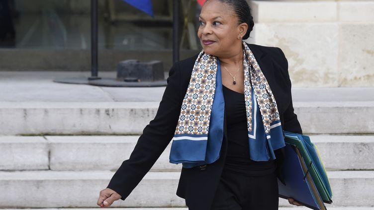 Christiane Taubira à l'Elysée, à Paris, le 21 octobre 2015. (DOMINIQUE FAGET / AFP)
