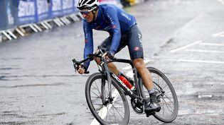 Gianni Moscon, en septembre 2019, en Italie. (BETTINI LUCA / BETTINIPHOTO / AFP)