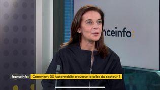 Béatrice Foucher invitée de franceinfo le 23 octobre 2020.  (FRANCEINFO / RADIOFRANCE)
