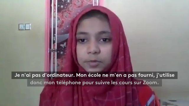Fatema, élève au Bangladesh