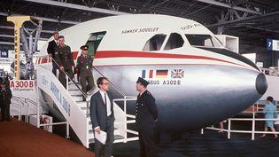 Airbus est né en 1969. La maquette d'un Airbus A300 au Salon du Bourget, en mai 1969. (AFP)