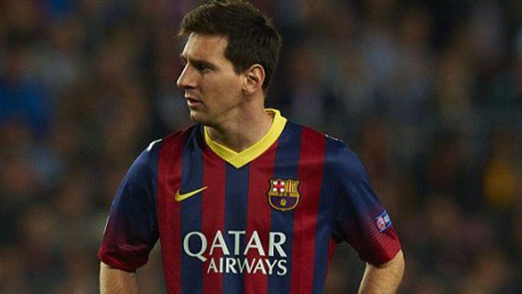 L'attaquant argentin du FC Barcelone, Lionel Messi