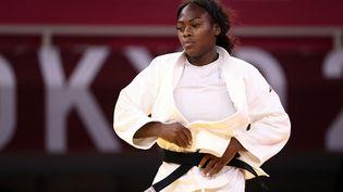 La quintuple championne du monde française, Clarisse Agbegnenou, le 27 juillet 2021 aux Jeux olympiques de Tokyo. (CROSNIER JULIEN / KMSP / AFP)