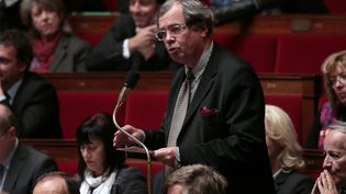 AlainTourret, député LREM, le 5 novembre 2013 à l'Assemblée nationale. (JACQUES DEMARTHON / AFP)