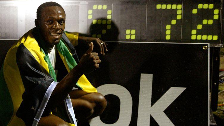Le premier record du monde d'Usain Bolt (HAYDEN ROGER CELESTIN / AFP)