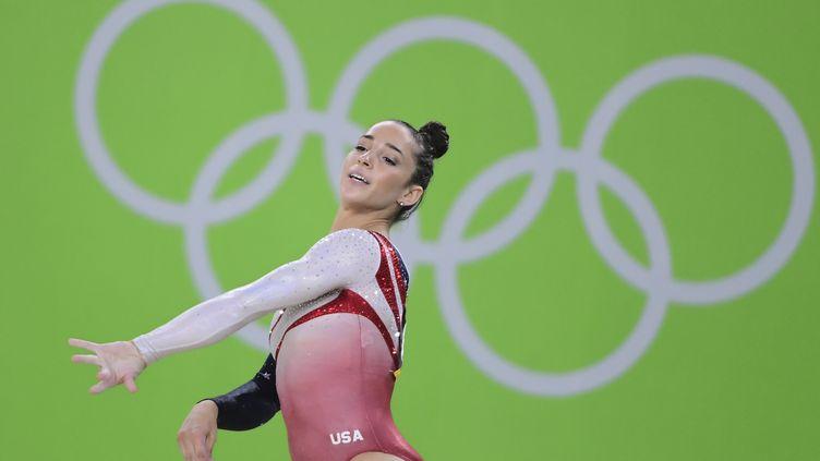 La gymnasteAlexandra Raisman aux Jeux olympiques de Rio (Brésil), le 9 août 2016. (EMMANUEL DUNAND / AFP)