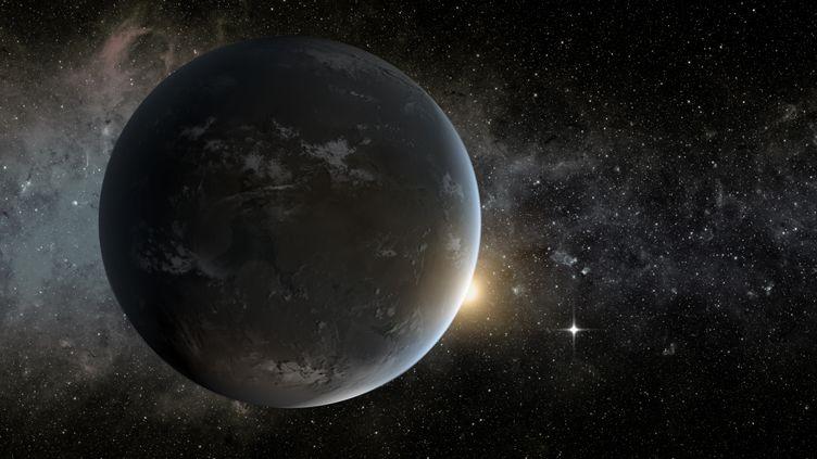 Visualisation de Kepler-62f, l'une des exoplanètes découvertes par des chercheurs, fournie le 18 avril 2013. (PYLE / NASA JPL-CALTECH / AFP)