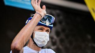 Le Britannique Christopher Froome est de retour sur les routes du Tour de France en 2021, sous les couleurs de sa nouvelle équipe Israel Start-Up Nation. (DAVID STOCKMAN / BELGA MAG / AFP)