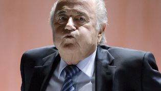 Le président de la Fifa, Sepp Blatter, lors du congrès de l'instance dirigeante du football mondialà Zürich (Suisse), vendredi 29 mai 2015. (FABRICE COFFRINI / AFP)