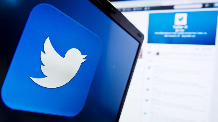 Twitter fête ses 8 ans, le 20 mars 2014. (LEON NEAL / AFP)