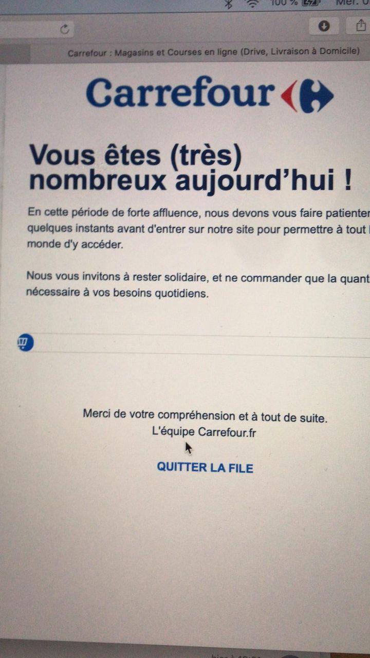 Lisa tente de faire des courses en ligne, le 18 mars 2020. (LISA / FRANCEINFO)