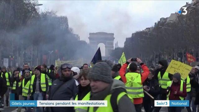 « Gilets jaunes » : tensions pendant les manifestations