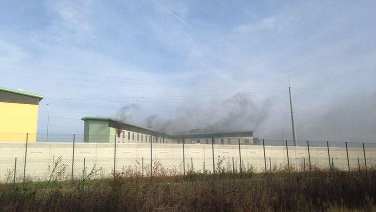 Incendie et mutinerie à la prison de Valence, le 27 novembre 2016. (Tommy Cattanéo - Radio France)