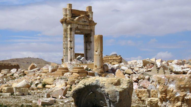 A Palmyre, le temple de Bel après les destruction de l'Etat islamique  (Stringer / AFP)