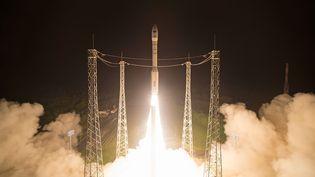 Un satellite a été lancé à Kourou, en Guyane, le 7 mars 2017. (STEPHANE CORVAJA / EUROPEAN SPACE AGENCY / AFP)