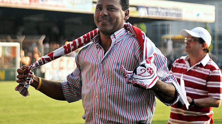 Roberto Cabanas, invité exceptionnel du Stade Brestois en 2008 (LE T?L?GRAMME/ NICOLAS OLLIER / MAXPPP)