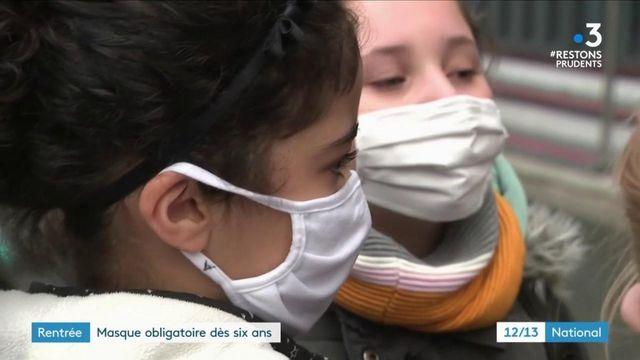 Rentrée scolaire : le masque devient obligatoire dès six ans