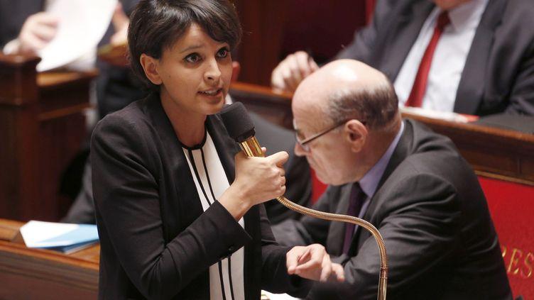 La ministre de l'Education nationale, Najat Vallaud-Belkacem,à l'Assemblée nationale, à Paris, le 24 mars 2015. (FRANCOIS GUILLOT / AFP)