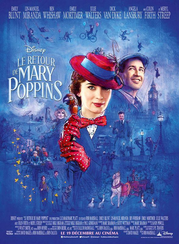 """""""Le Retour de Mary Poppins"""" : l'affiche  (The Walt Disney Company France )"""