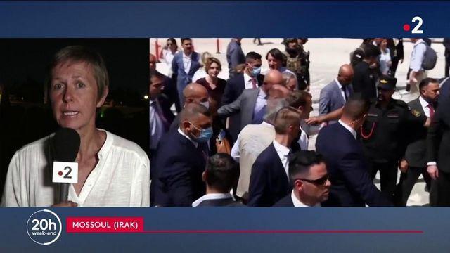 Irak : en visite à Mossoul, Emmanuel Macron assure la poursuite de la lutte antiterroriste