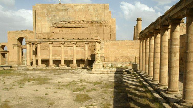Le palais royal du site antique de Hatra en Irak, photographié en 2003.