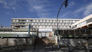 Le campus de lettres Carlone fermé pendant le confinement, à Nice (Alpes-Maritimes), le 10 novembre 2020. (MAXPPP)
