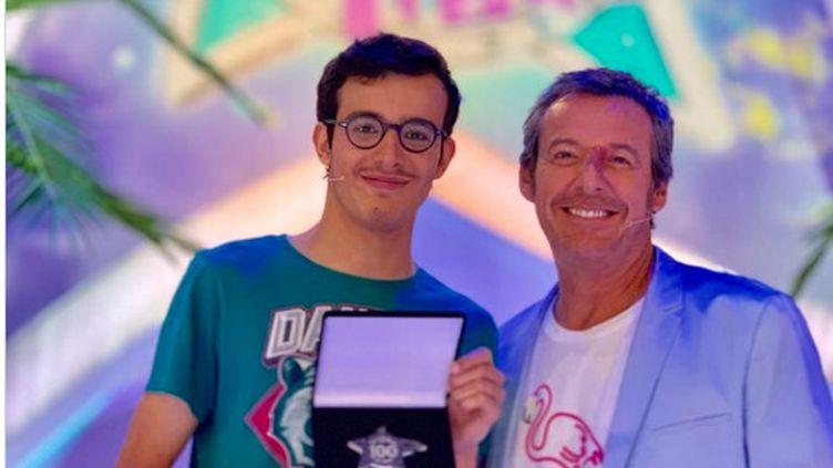 """Paul, 20 ans, est devenu le plus jeune champion de l'histoire des """"12 coups de midi"""", le 7 août 2019. (CAPTURE INSTAGRAM JEAN-LUC REICHMANN)"""