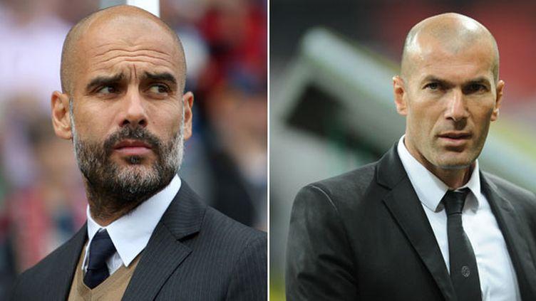 Pep Guardiola et Zinédine Zidane
