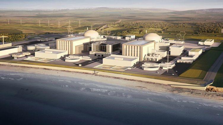 Image de synthèse pour illustrerle projet nucléaire d'Hinkley Point (Royaume-Uni) qui doit être mis en route en 2015, selon EDF. (EDF ENGERY / AFP)