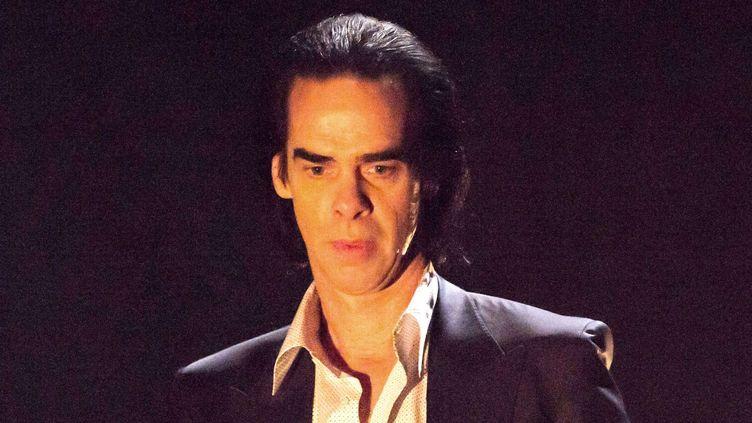 Nick Cave en concert à l'Hammersmith Apollo de Londres le 2 mai 2015.  (Brian Rasic/REX Shutter/REX/SIPA)