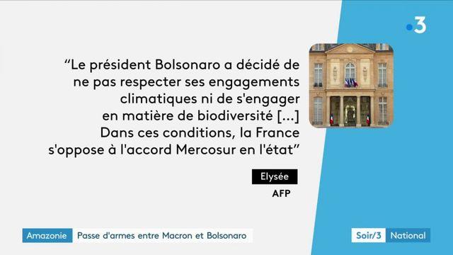 Amazonie : passe d'armes entre Macron et Bolsonaro