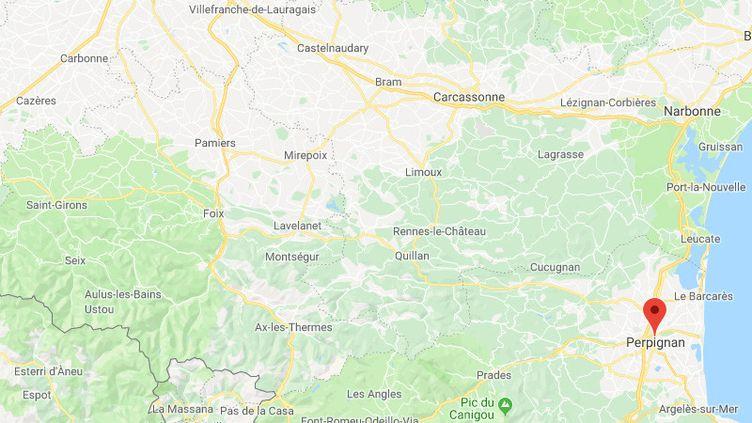 Perpignan dans les Pyrénées-orientales. (GOOGLE MAPS)