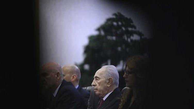 Shimon Peres (à Pékin) le 8 avril 2014 ( REUTERS - Feng Li - Pool)