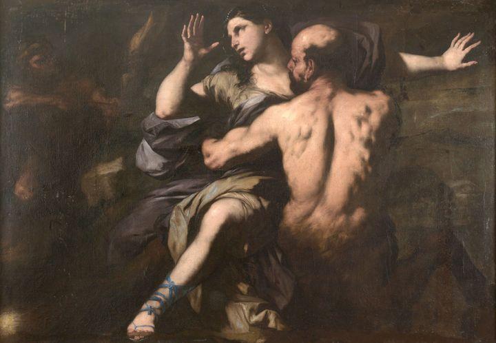 "Luca Giordano, ""Enlèvement de Déjanire"" [Ratto di Deianira], 1655-1660 (Palerme, Palazzo Abatellis)"