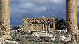 A Palmyre, le temple de Baalshamin (photo de mars 2014)  (Joseph Eid / AFP)