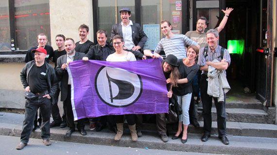 Des candidats pirates de la région Ile-de-France à Paris, le 23 mai 2012. (THOMAS BAIETTO / FTVI)