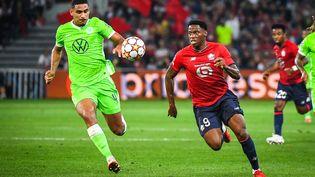 Jonathan David et les Lillois ont idéalement lancé leur aventure en Ligue des champions, le 14 septembre au Stade Pierre Mauroy. (MATTHIEU MIRVILLE / DPPI / AFP)