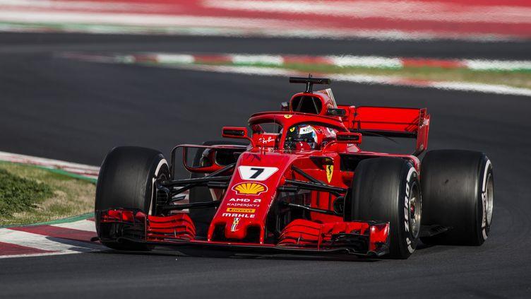 Kimi Räikkönen (Ferrari) à Barcelone (XAVIER BONILLA / NURPHOTO)