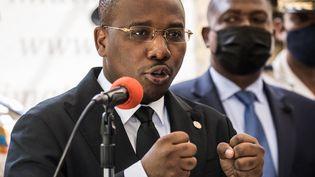 L'actuel Premier ministre, Claude Joseph, le 6 juillet 2021 en Haïti. (VALERIE BAERISWYL / AFP)