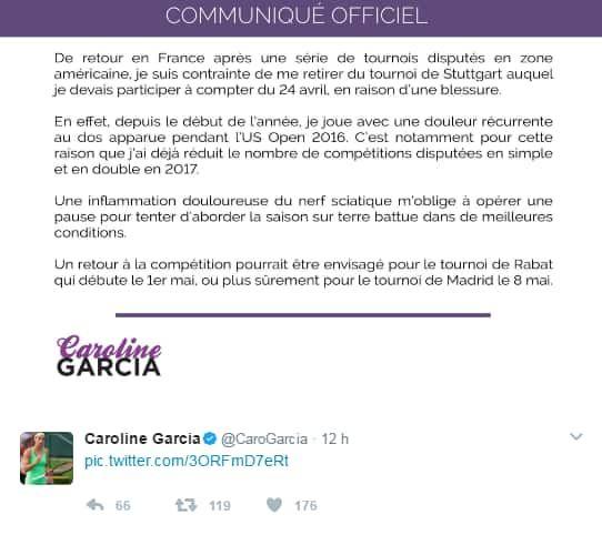 Le tweet de Garcia
