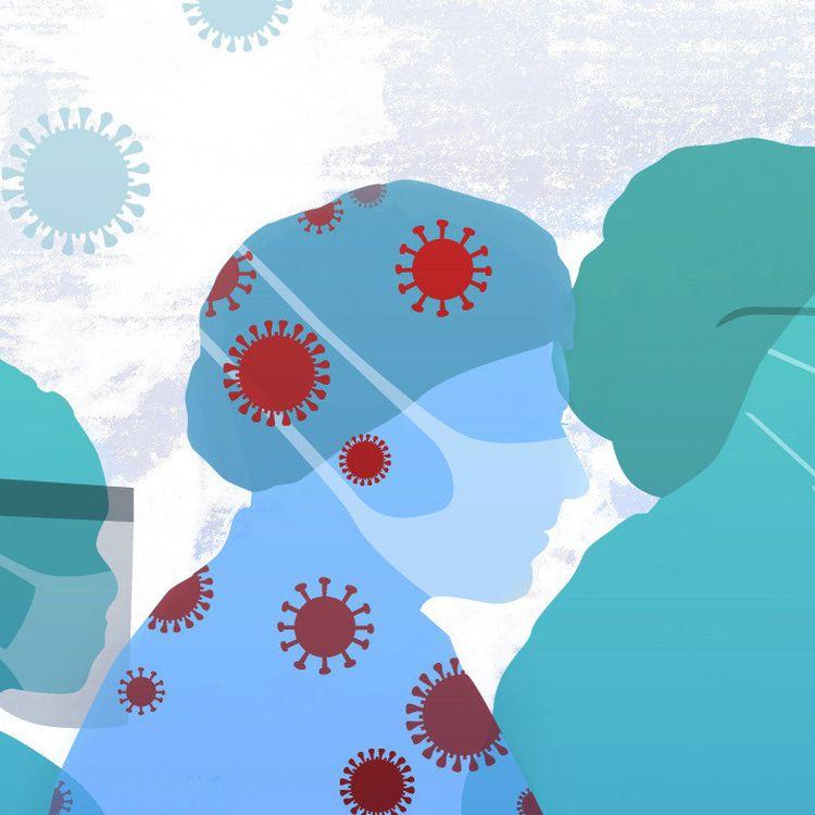 """Dans plusieurs pays, """"certains rapports font mention de plus de 10% des professionnels de santé infectés"""", expliquait mi-avrille directeur général de l'OMS. (AWA SANE / FRANCEINFO)"""