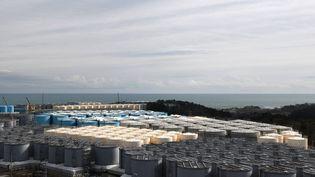 Le site de stockage de l'eau contaminée de la centrale nucléaire de Fukushima, le 3 février 2020 (KAZUHIRO NOGI / AFP)