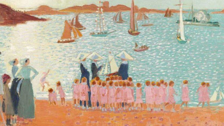 """La colonie de vacances"", Maurice Denis (1913) Huile sur carton  (RMN-Grand Palais, René-Gabriel Ojéda)"