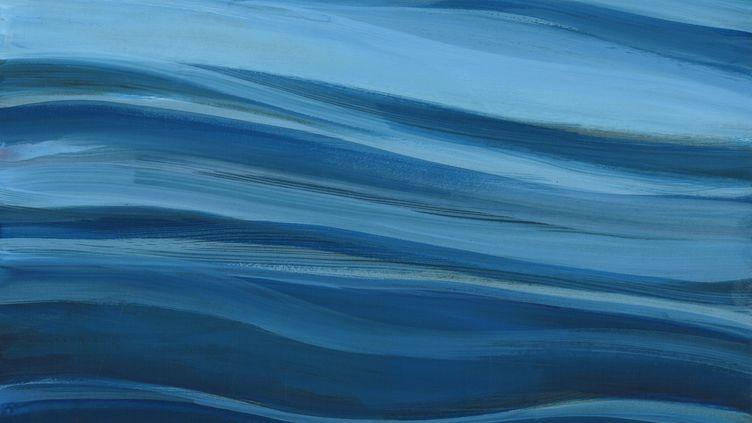 """""""Antarctique"""", peinture de Marie Détrée Hourrière, artiste spécialiste de la mer et peintre officiel de la Marine. L'espace maritime de l'Union européenne couvre 19 millions de km². (MARIE DETREE HOURRIERE)"""