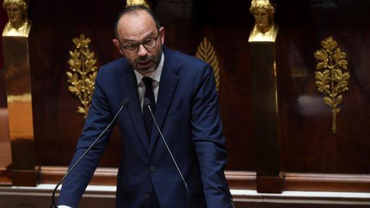Le Premier ministre Édouard Philippe a tenu son discours de politique générale devant les députés à l'Assemblée nationale. ((CHRISTOPHE ARCHAMBAULT / AFP))